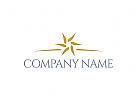 Hotel Logo, Tourismus Logo, Blume Logo, Gold Logo