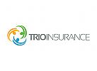 Menschen Logo, Gruppe Logo, Versicherungen Logo