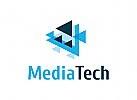 Medien Logo, Pixel Logo, Verbindung Logo, Daten Logo