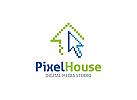 Pixel Logo, Haus Logo, Design Logo