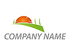Zeichen, Zeichnung, Wiese, Sonne, Gärtner, Logo