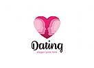 Zwei, Herz, Dating, Partner-Vermittlung