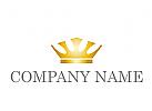 Zeichen, Skizze, Logo, Krone aus Gold