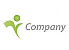 Sport, Eine Person, Mensch in Bewegung Logo