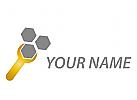 Schraubenschlüssel und Mutter Logo