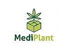 Cannabis Logo, Marihuana Logo, Medizin Logo