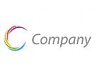 Spirale, Linien, farbig Logo