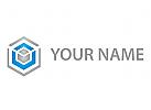 Zeichen, Zeichnung, Würfel, Cube, Sechseck, Technologie, Quader, Logo