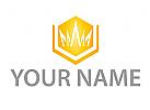 Zeichen, Zeichnung, Symbol, Sechseck, Krone, Gold, Logo
