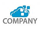 Wolke und Rechtecke Logo