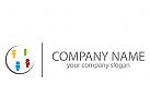 Vier Personen, Menschen, Team Logo