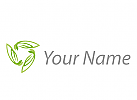 Ökologie, Zweifarbig, Zeichen, Zeichnung, Vegan, Blätter, Pflanzen, Logo