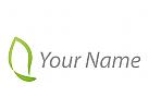 Pflanze, Blatt in grün Logo