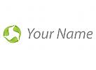 Drei Pflanzen, Blätter Logo
