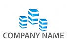 Drei Skyline, Hochhäuser Logo