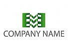 Metallindustrie, M, 3D Konstruktion Logo