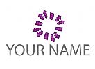 Viele Rauten, Rechtecke Logo