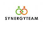 Logo, Team, Synergy, Verbindung