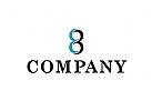 Logo, Abstrakt, Unendlich, Zahl, 8, 3