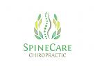 Chiropraktik Logo, Rücken Logo, Wirbelsäule Logo, Massage Logo