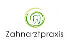 Logo, Zahnarztpraxis, Zahn, Spirale