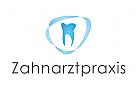 Logo, Zahnarztpraxis, Zahn, Band