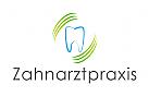 Logo, Zahnarztpraxis, Zahn, Bogen, Linien