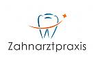 Logo, Zahnarztpraxis, Zahn, Schweif, Stern