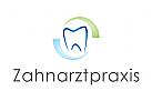 Logo, Zahnarztpraxis, Zahn, Bogen, Halbkreis
