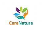 Natur Logo, Garten Logo, Pflege Logo