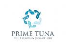 Fisch Logo, Thunfisch Logo, Meer Logo