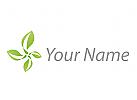 Vier Blätter, Pflanzen Logo