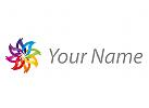 Viele Farben Blume Logo