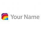 Viele Farben Rechteck Logo