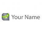 Würfel, Quader, Technologie, Daten Logo