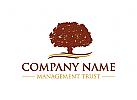 Vertrauen Logo, Rechtsanwalt Logo, Baum Logo
