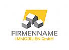 Immobilien Logo, Grundstücke, Architektur, Bau, Haus Logo