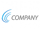 Wellen, Linien in blau Logo