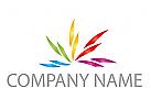 Viele Farben Blume, Maler Logo