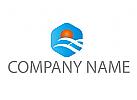 Wellen und Sonne, Reisebüro Logo