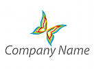 Schmetterling, farbig Logo