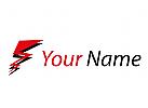 Strom, Elektriker Logo