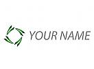 Ökologie, Blätter, Rechteck Logo