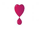 Logo, Herz, Blut, Tropfen, Blutspende, Kardiologie, Arztpraxis