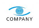 Zeichen, Signet, Logo, Auge, Globus, Transport, Logistik, Augenarzt, Optiker