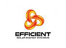 Effizient Logo, Energie Logo, Leistung Logo, Link Logo, Sonne Logo, Technologie Logo, Umwelt Logo