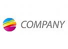 Viele Farben Kreis, Maler Logo