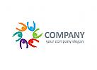 Menschen Logo, Gruppe Logo, Maler Logo, Farbe Logo,