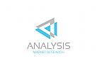 Dreieck Logo, Analysen Logo, Daten Logo