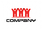 Menschen Logo, Beratung Logo, Rechtsanwalt Logo, Krone Logo